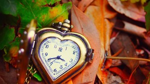 Orologio vintage a cuore HD