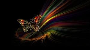 Sfondo farfalla astratta e colori