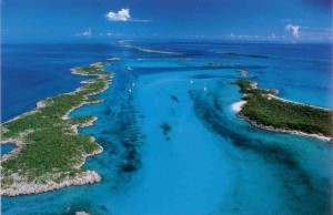 Sfondo oceano Bahamas e isolette