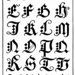 Tattoo dita mano - lettere alfabeto