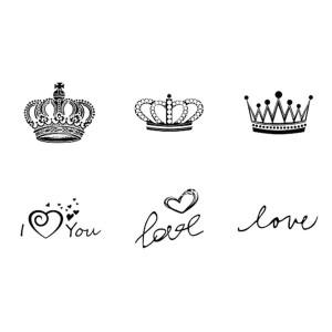 Tattoo dita mano - scritte e corone