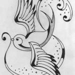 Tattoo old school rondine