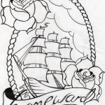 Tattoo old school veliero e rose