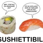 Vignetta per Facebook divertente - sushi