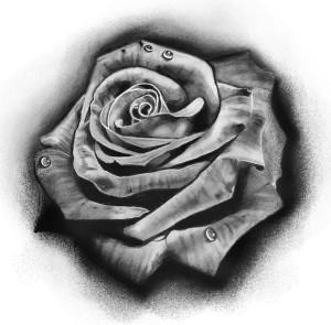 Tattoo realistico rosa