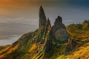 Sfondo bellissimo paesaggio Scozia