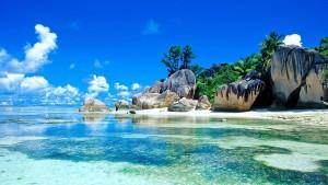 Sfondo desktop mare tropicale incontaminato