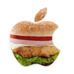 Sfondo Apple con hamburger