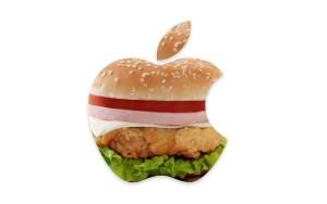 Sfondo Apple con hamburger