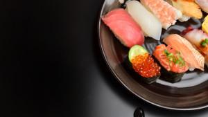 Sfondo piatto di sushi