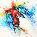 Tattoo pappagallo realistico